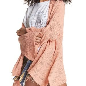NWT Free People Boho Chic Textured Kimono L